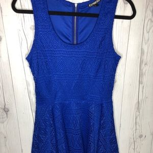 Express Cobalt Skater Dress